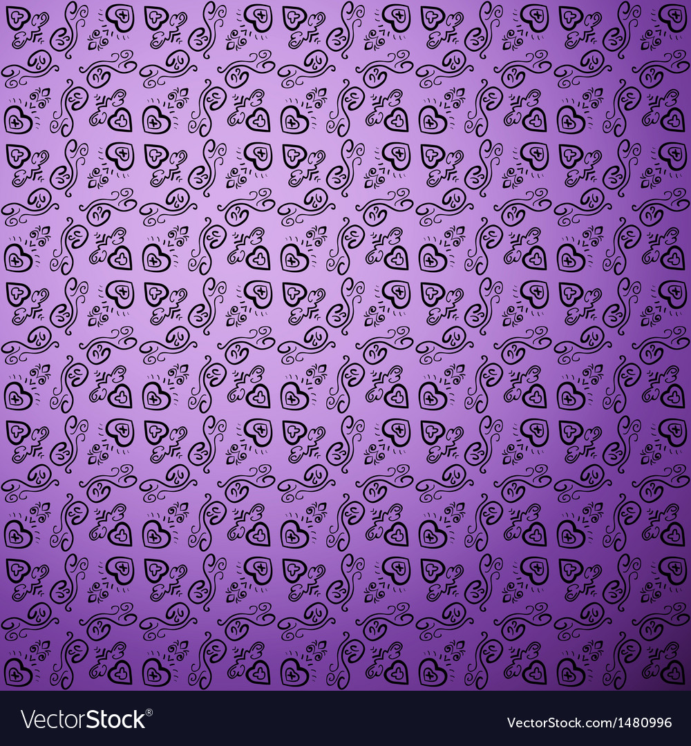 Antique pattern background Purple seamless