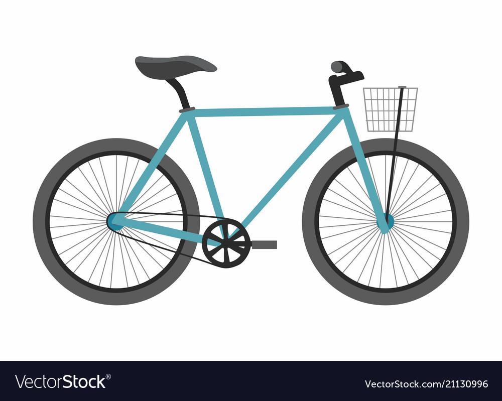 Blue bike bicycle isolated on white background