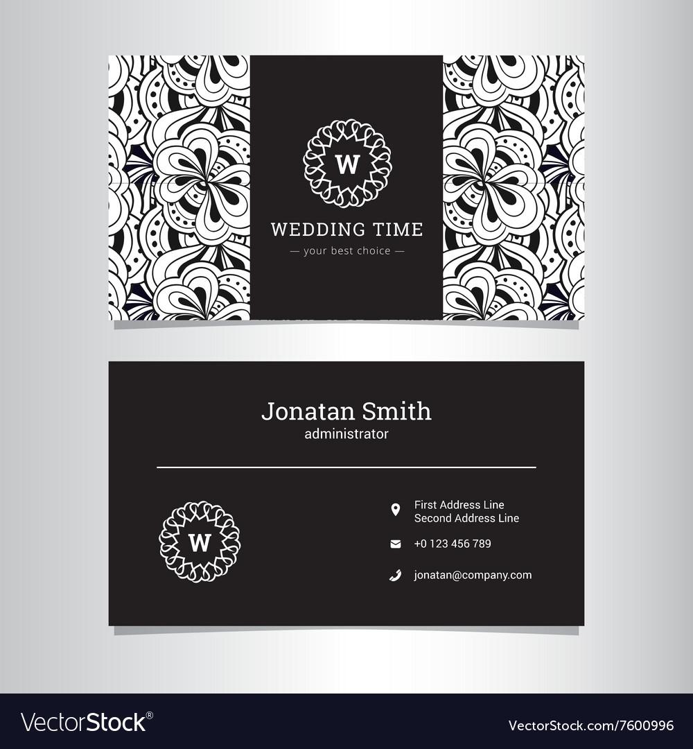 Elegant wedding agency business card Royalty Free Vector