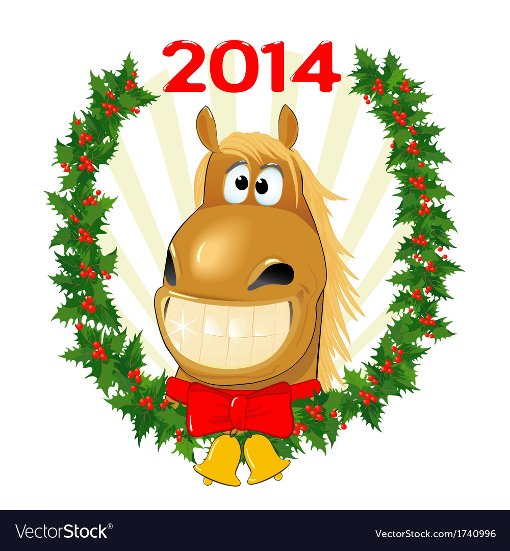 Funny horse symbol of the year