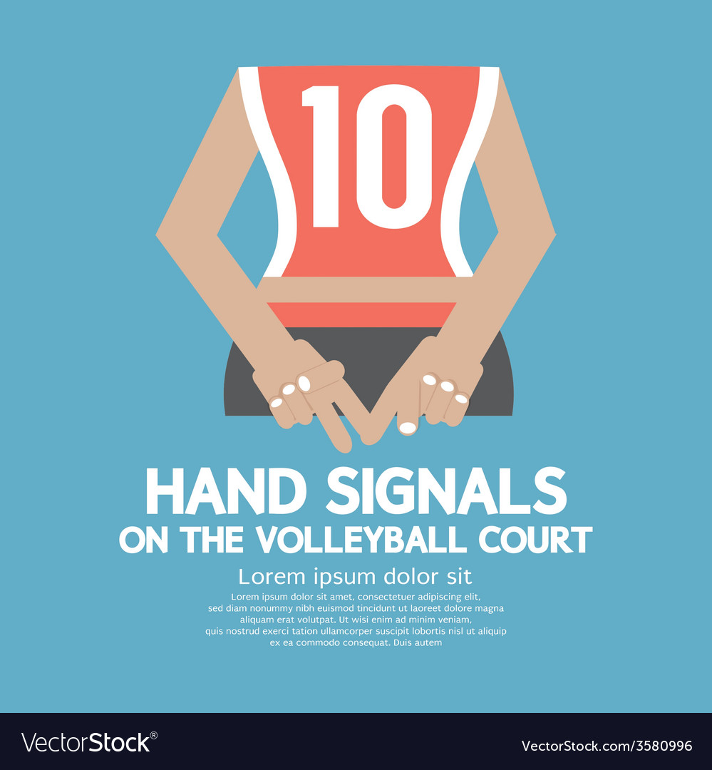 The main gestures of judges in volleyball 55