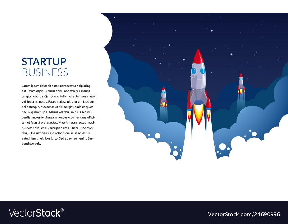 Space exploration start-up business rocket