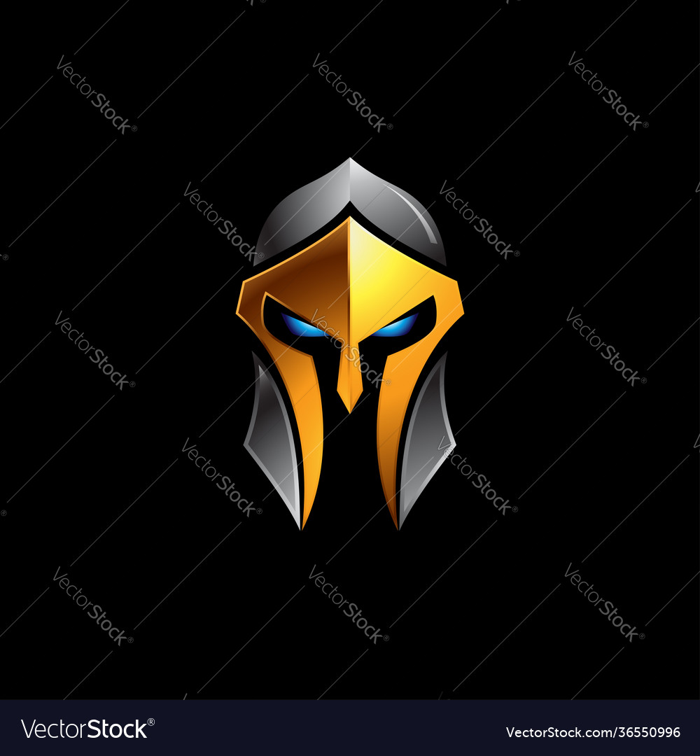 Spartan helmet logo on black