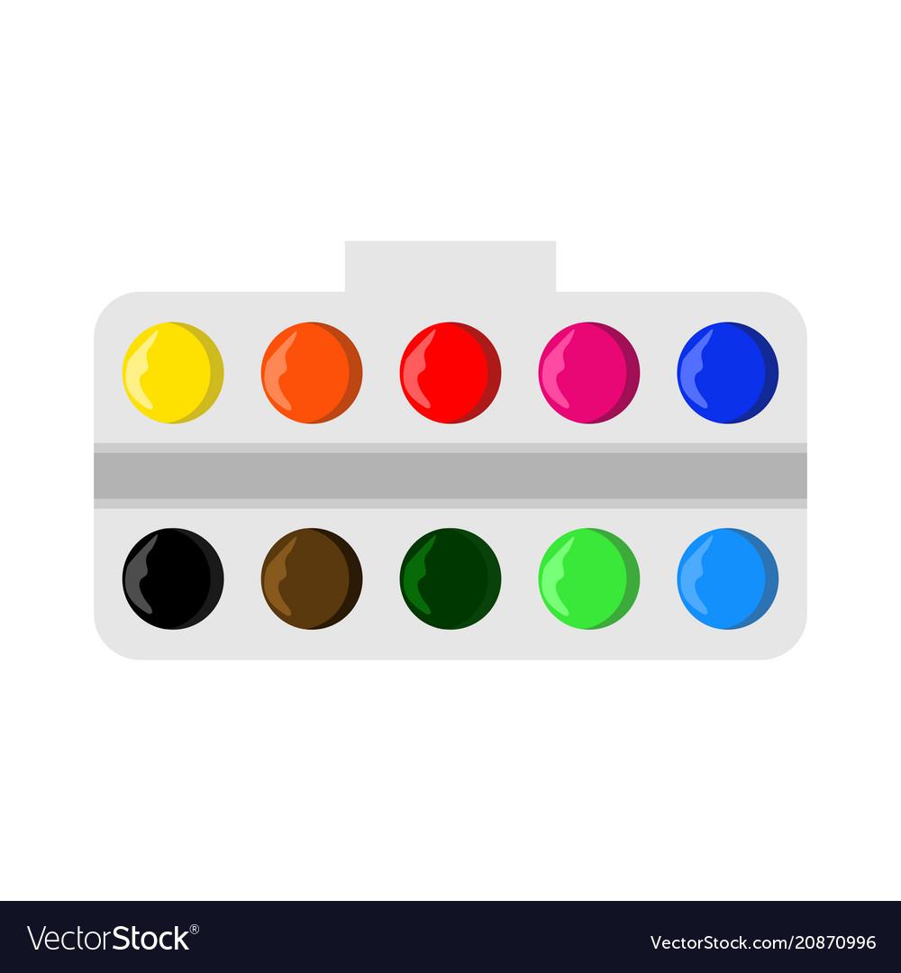 watercolor palette board royalty free vector image  vectorstock