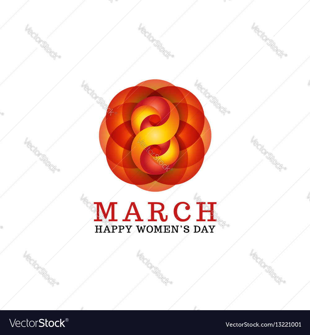 8 march happy women is day female greeting card