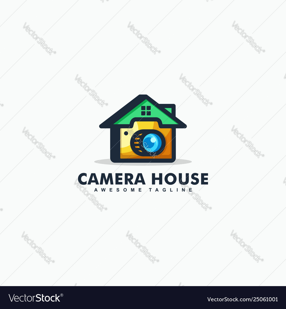 Abstract camera house design template