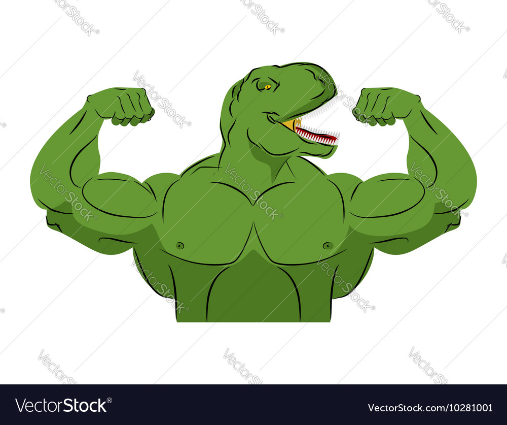 Dinosaur strong athlete Angry fitness