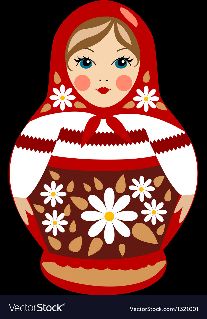 Red russian doll detailed