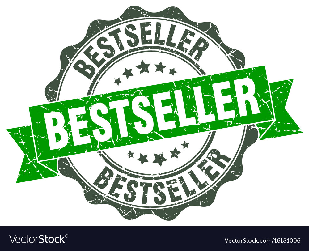 Bestseller stamp sign seal vector image