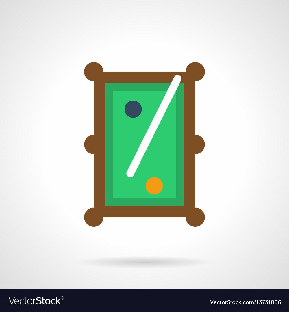 Billiard entertainment flat color icon