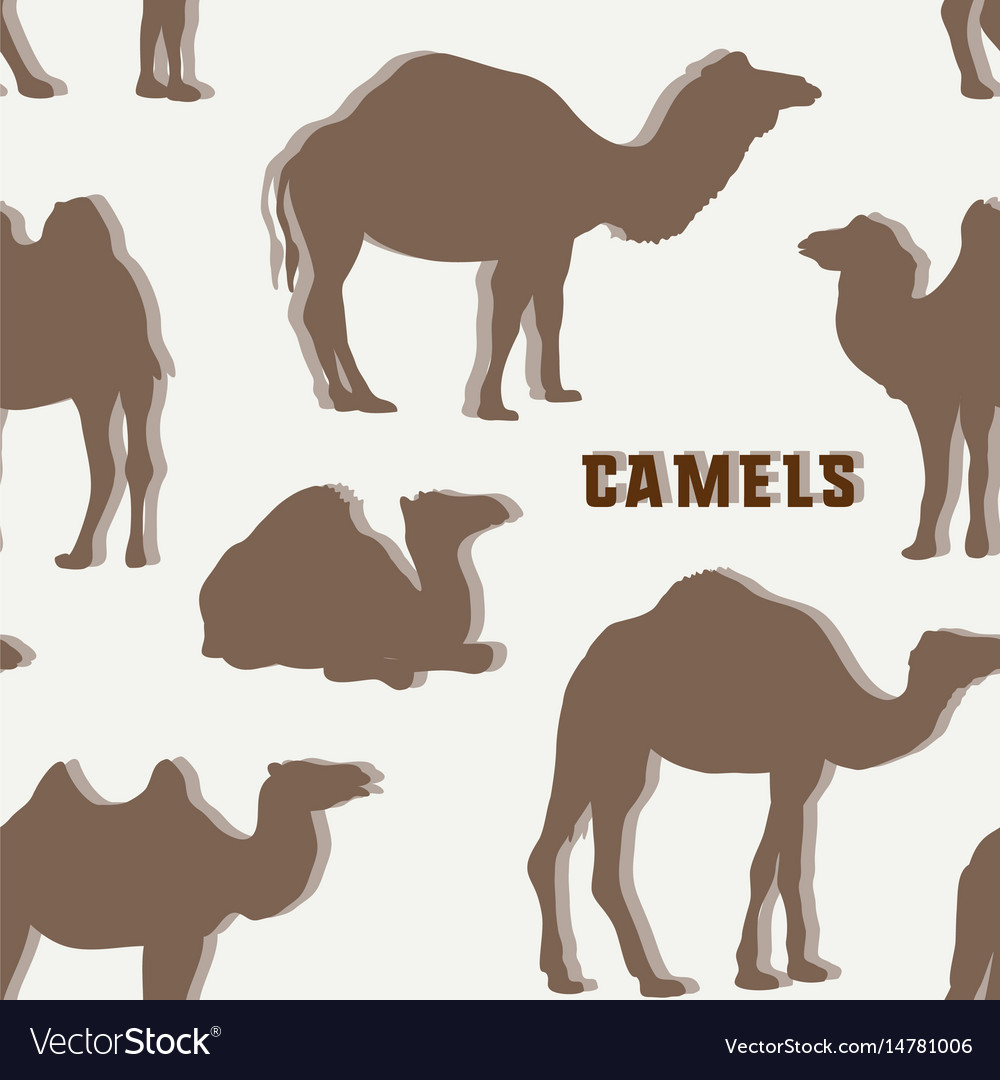 Camel silhouettes set pattern