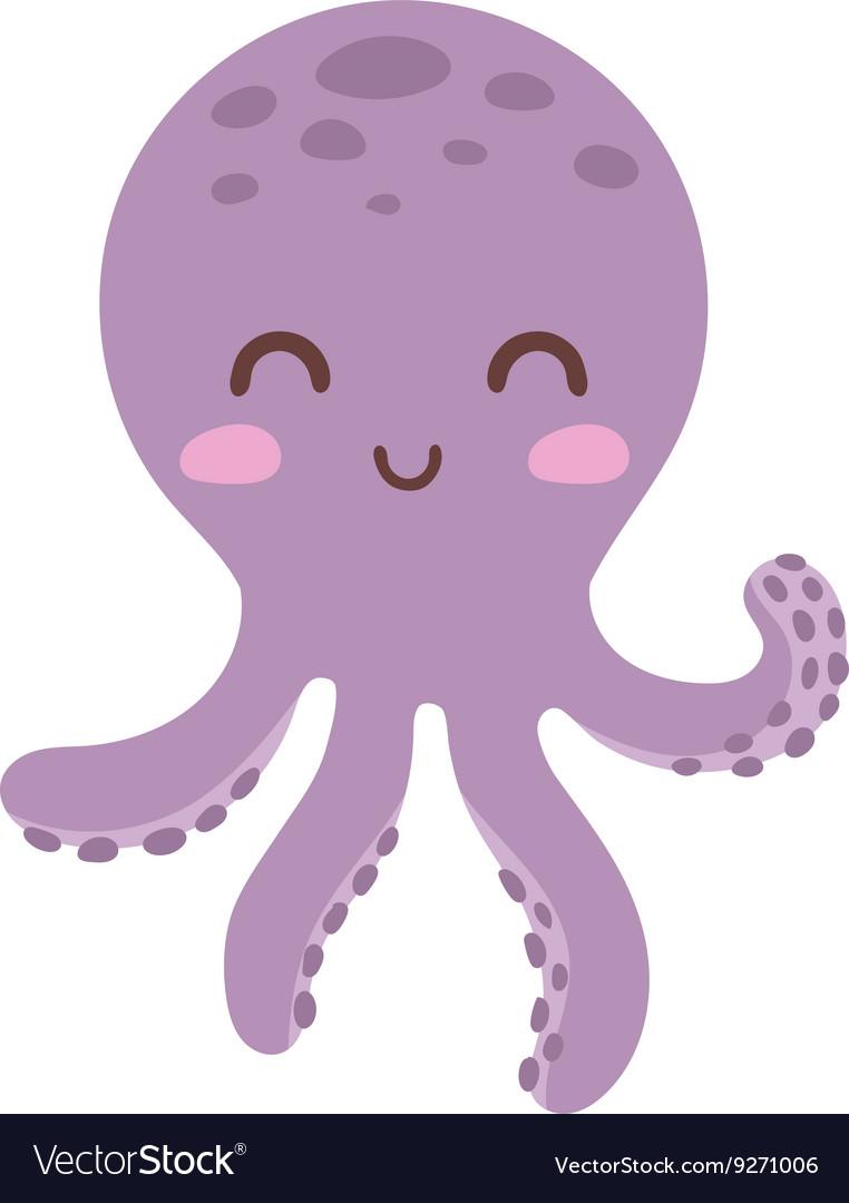 cartoon octopus royalty free vector image vectorstock rh vectorstock com purple octopus cartoon name purple octopus cartoon name