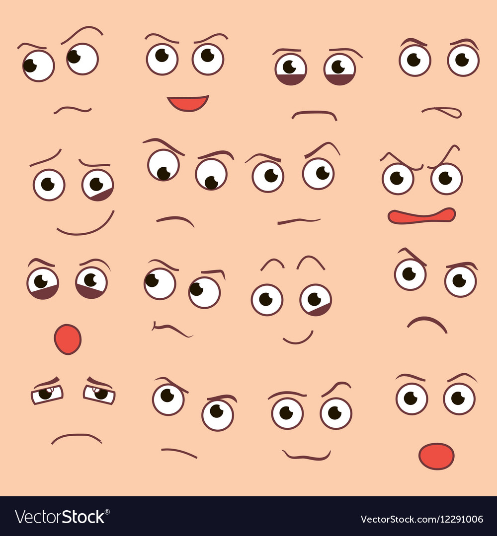 Creative cartoon style smiles with