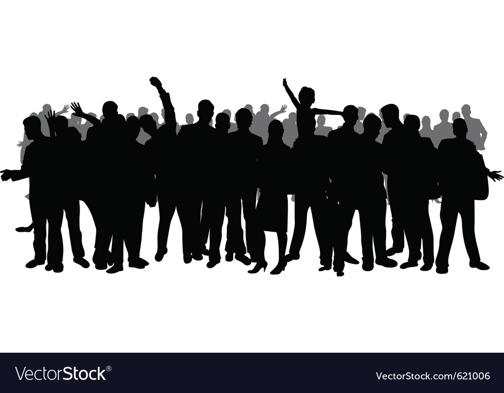 festival crowd royalty free vector image vectorstock rh vectorstock com crowd vector ai crowd vector hd