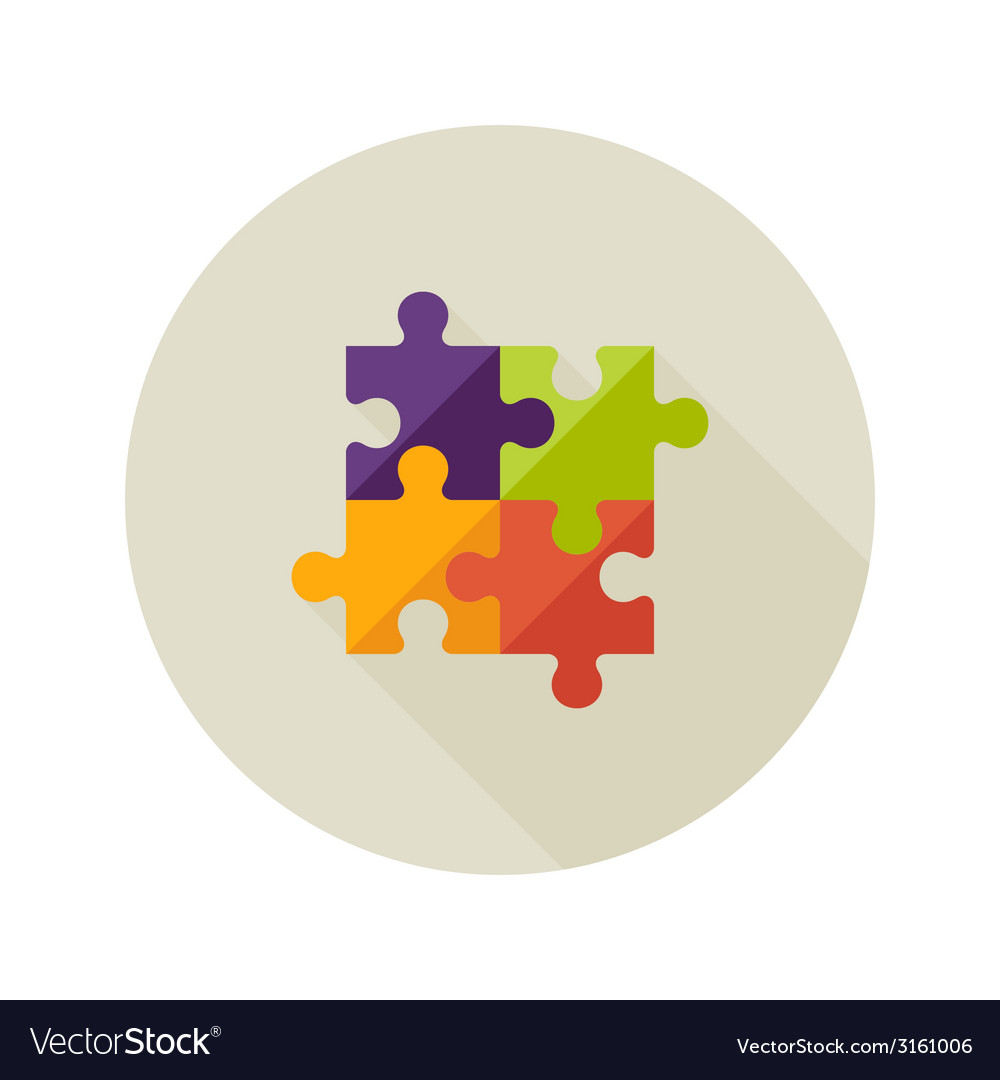 solution creativity puzzle flat icon royalty free vector