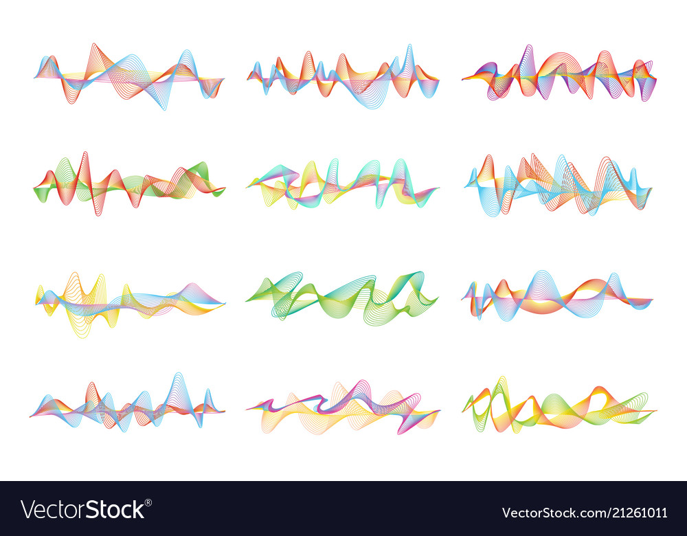 Abstract shapes and graphic waves for music