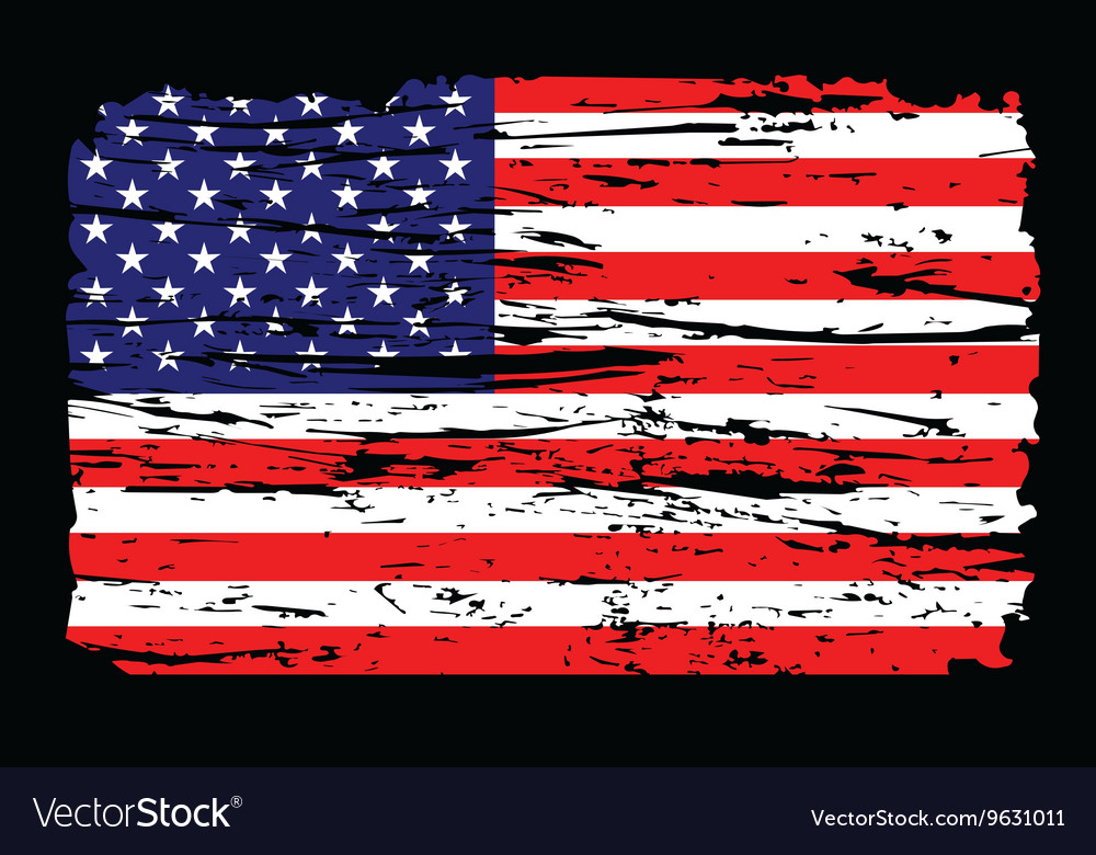 American Flag Grunge Independence 4th Of July Vector Image