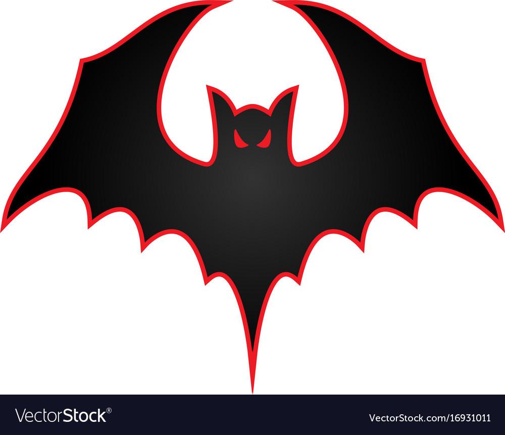 Bat with wings spread logo