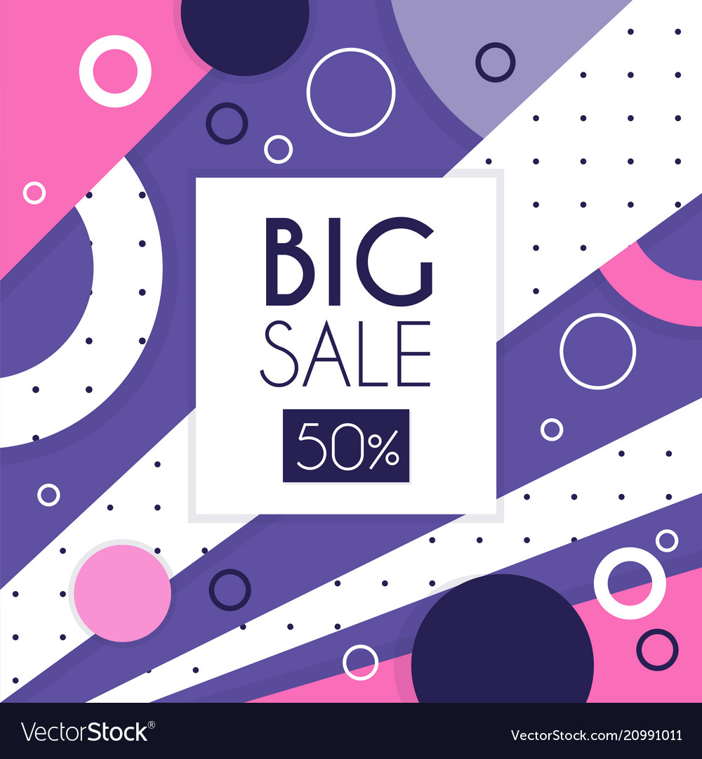 Big sale banner up to 50 percent off seasonal