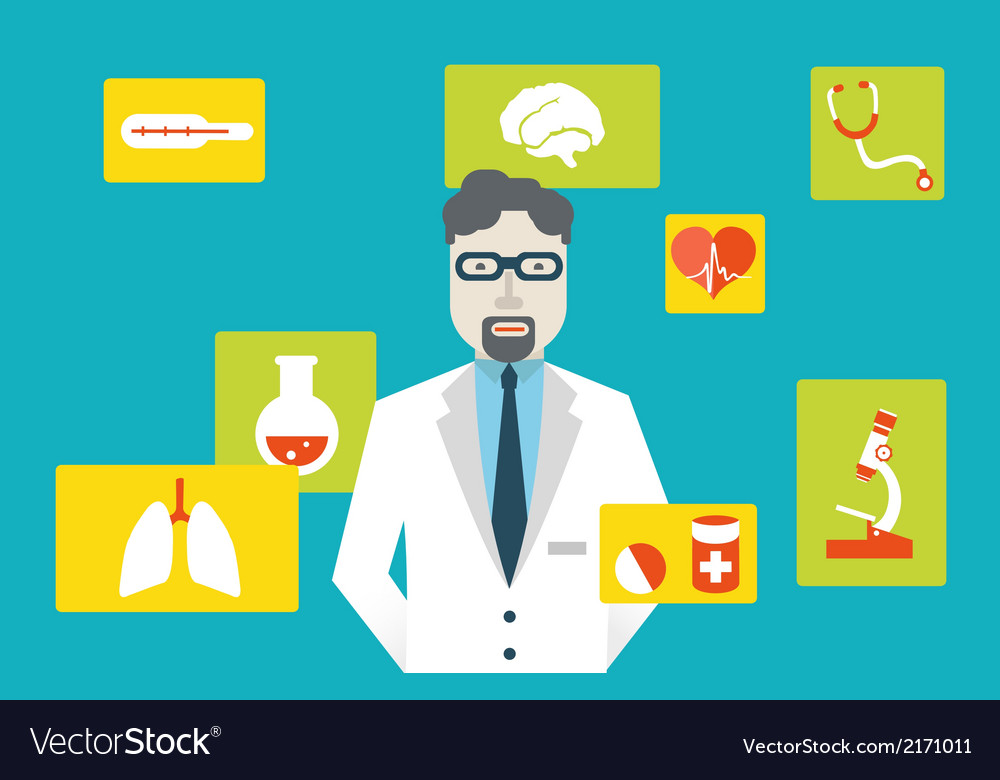Doctor and medical service vector image