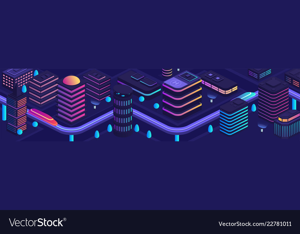 Smart city in a futuristic style a city the vector