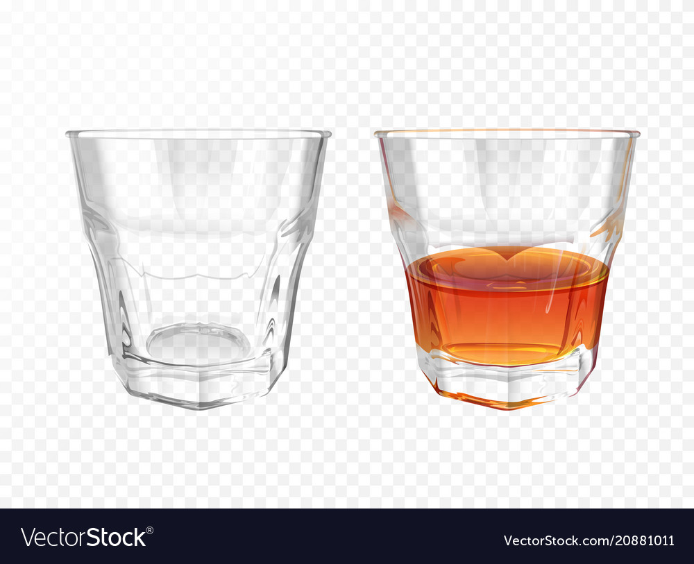 Whiskey glass realistic