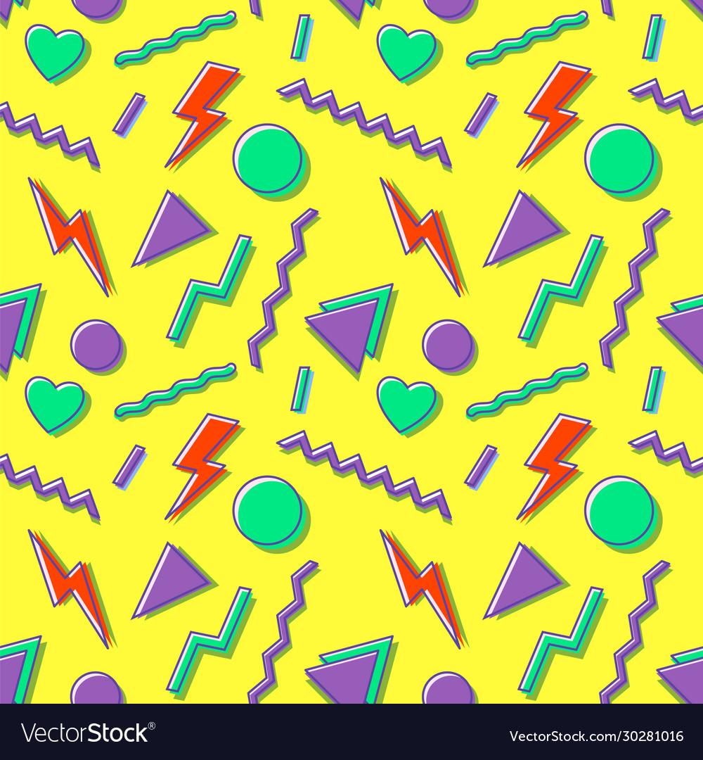 90s seamless pattern