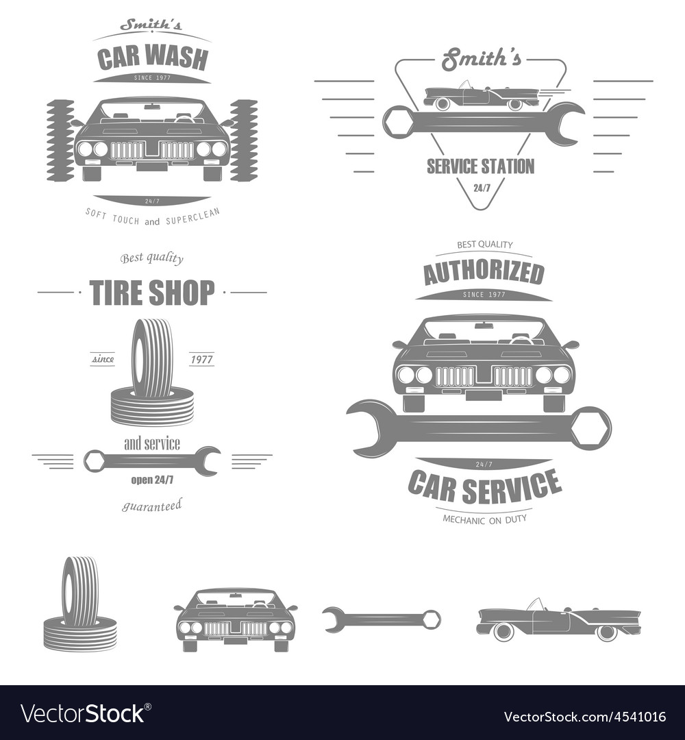 Car Service Badge Set