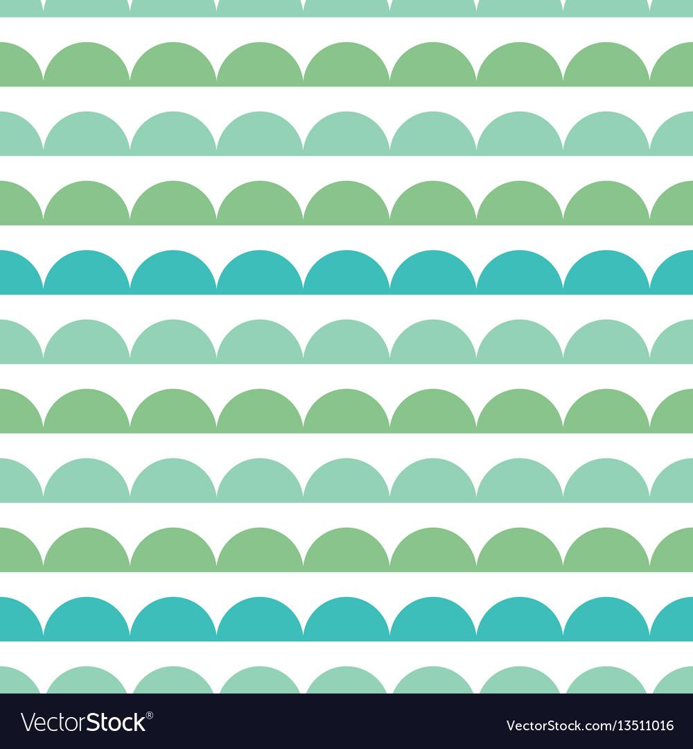 Green blue scallops stripes seamless repeat