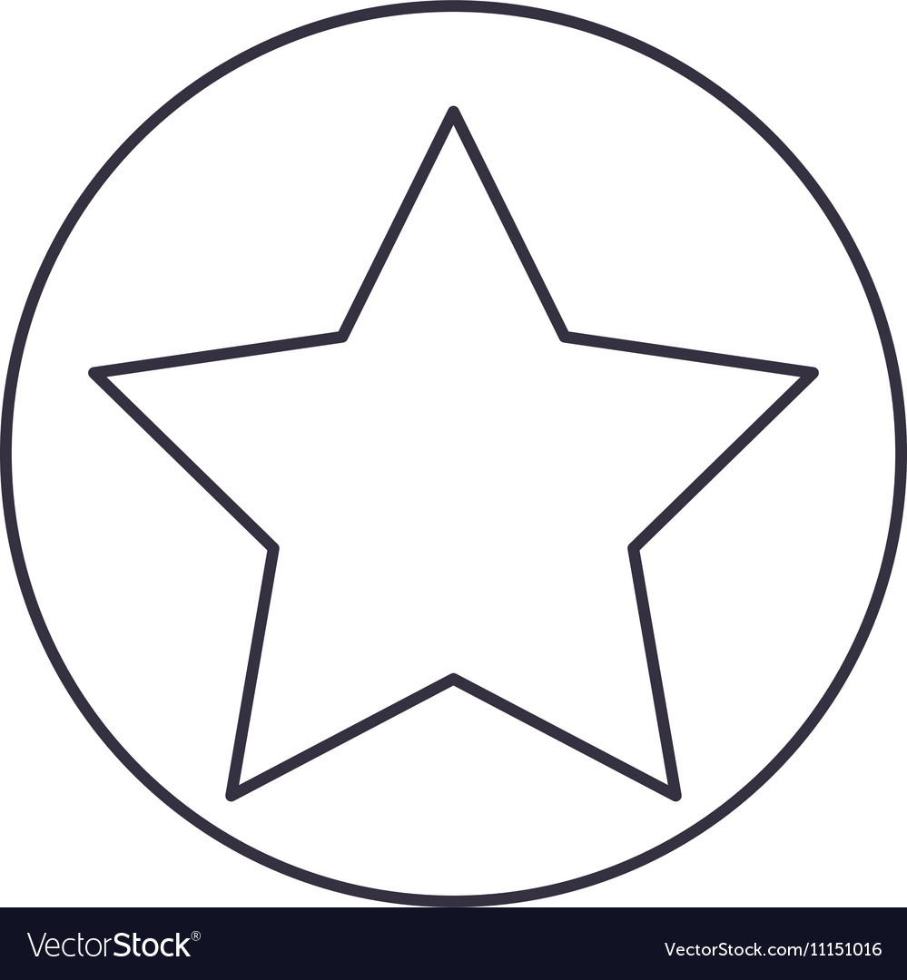 Isolated Star Inside Circle Design Royalty Free Vector Image