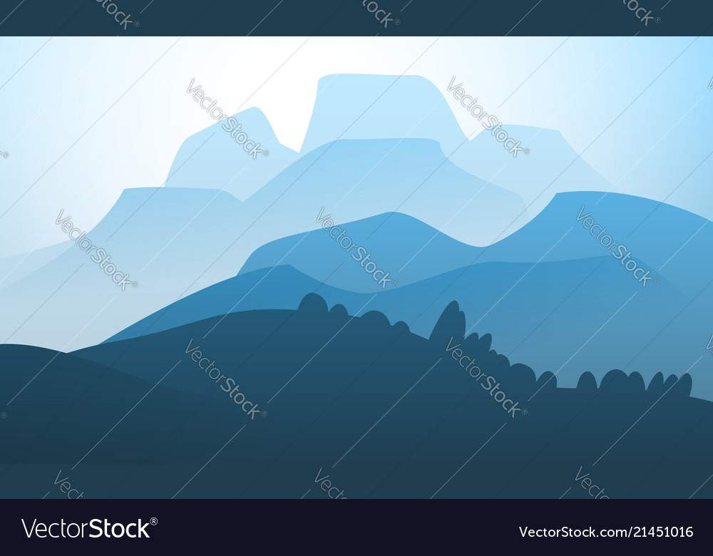 Landscape mountain peak horizon travel background