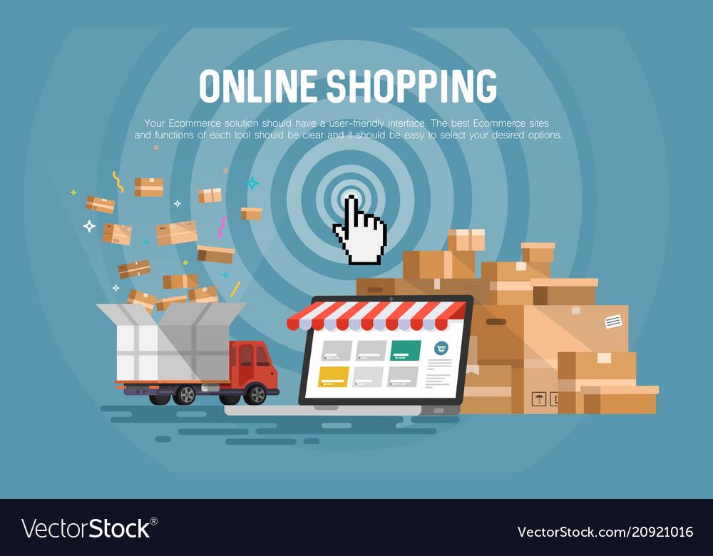 Online shopping concept desktop