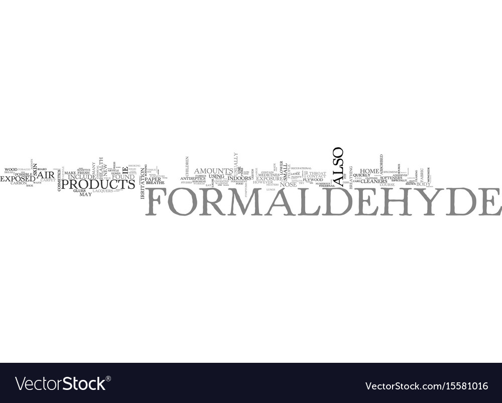 What you should know about formaldehyde text word vector image