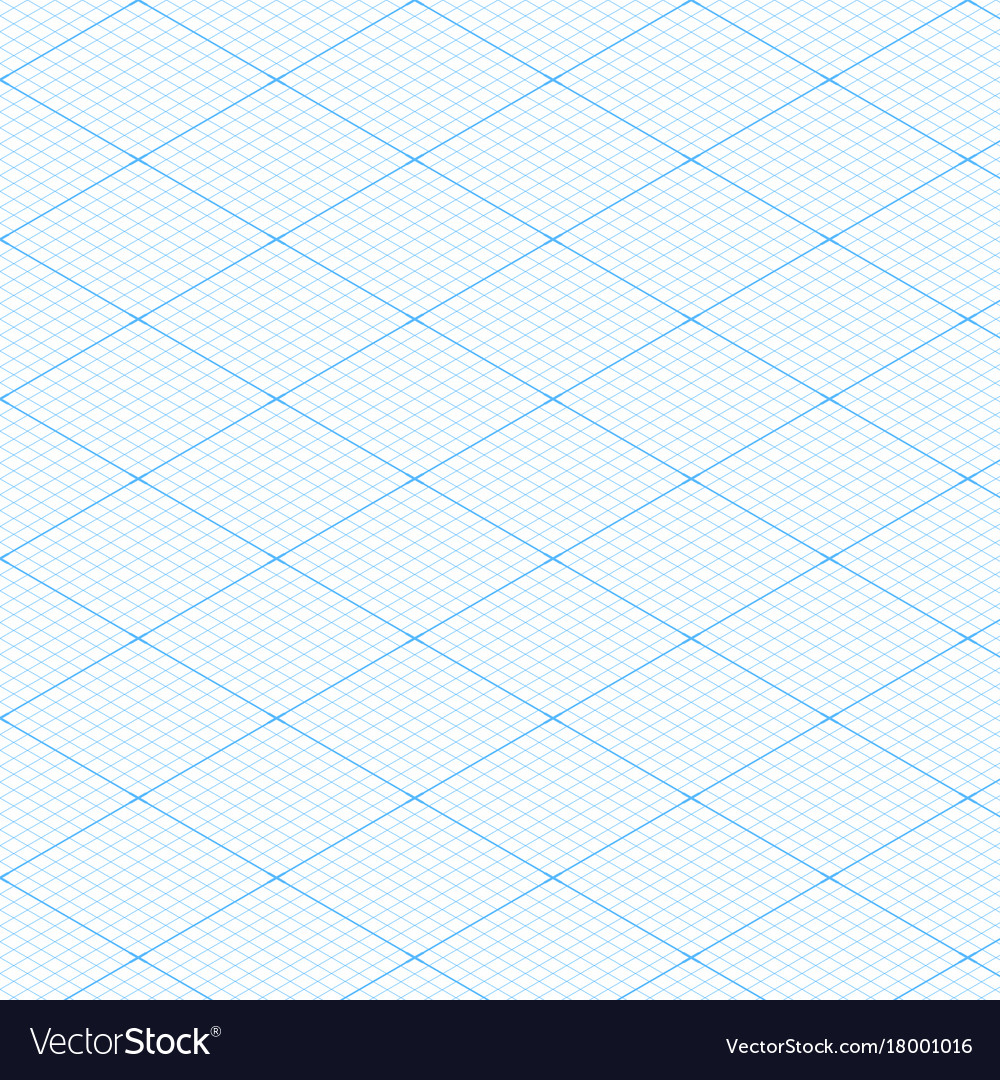 White isometric blueprint grid seamless pattern vector image malvernweather Image collections