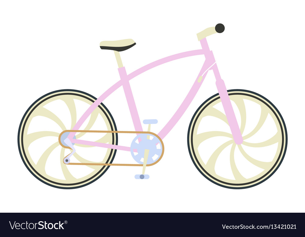 Bicycle in flat design