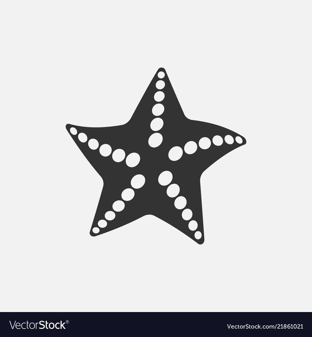 Black starfish icon