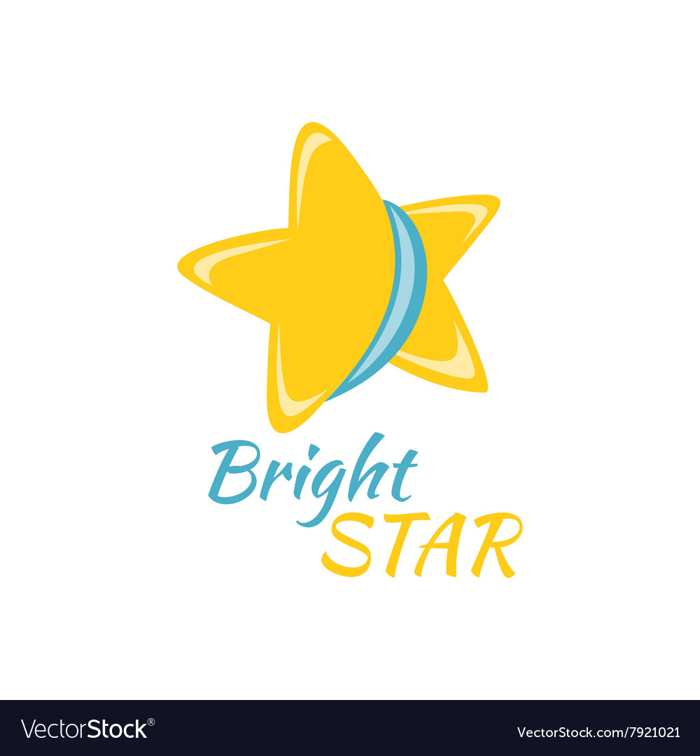 Bright Star Icon Sign Logo Badge