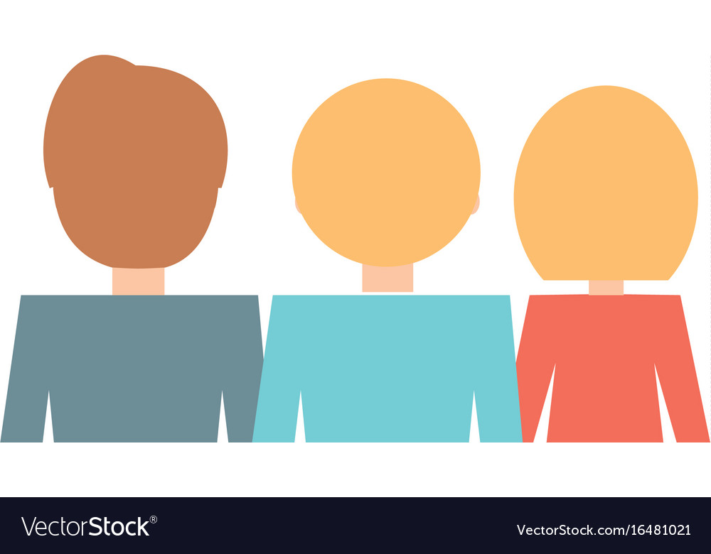 People back view cartoon vector image