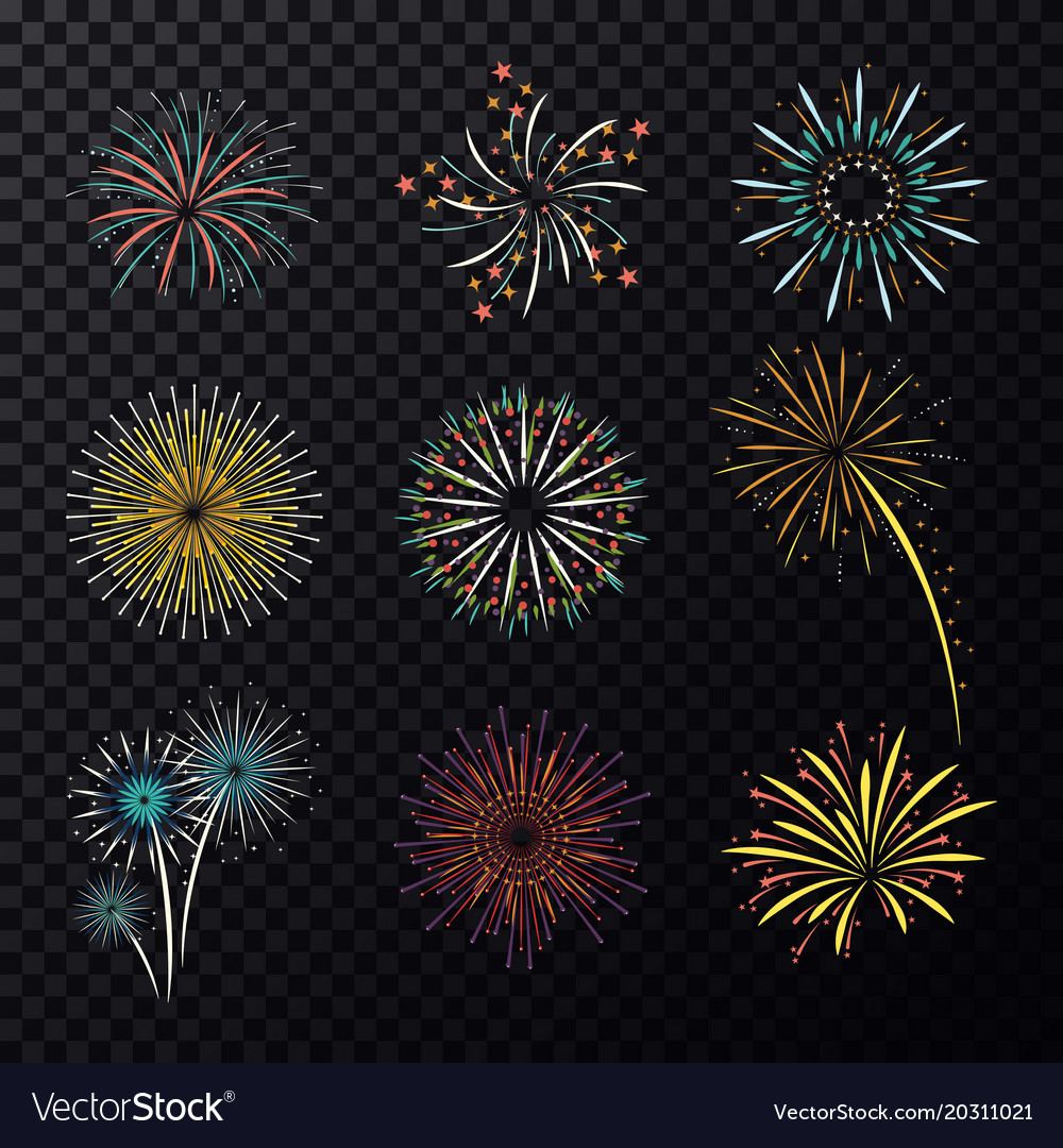 Pyrotechnic explosion or fireworks for celebration