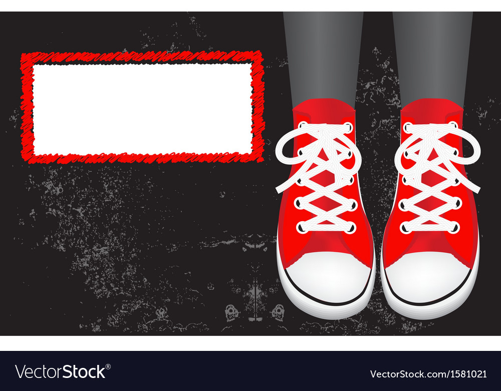 Red gumshoes vector image