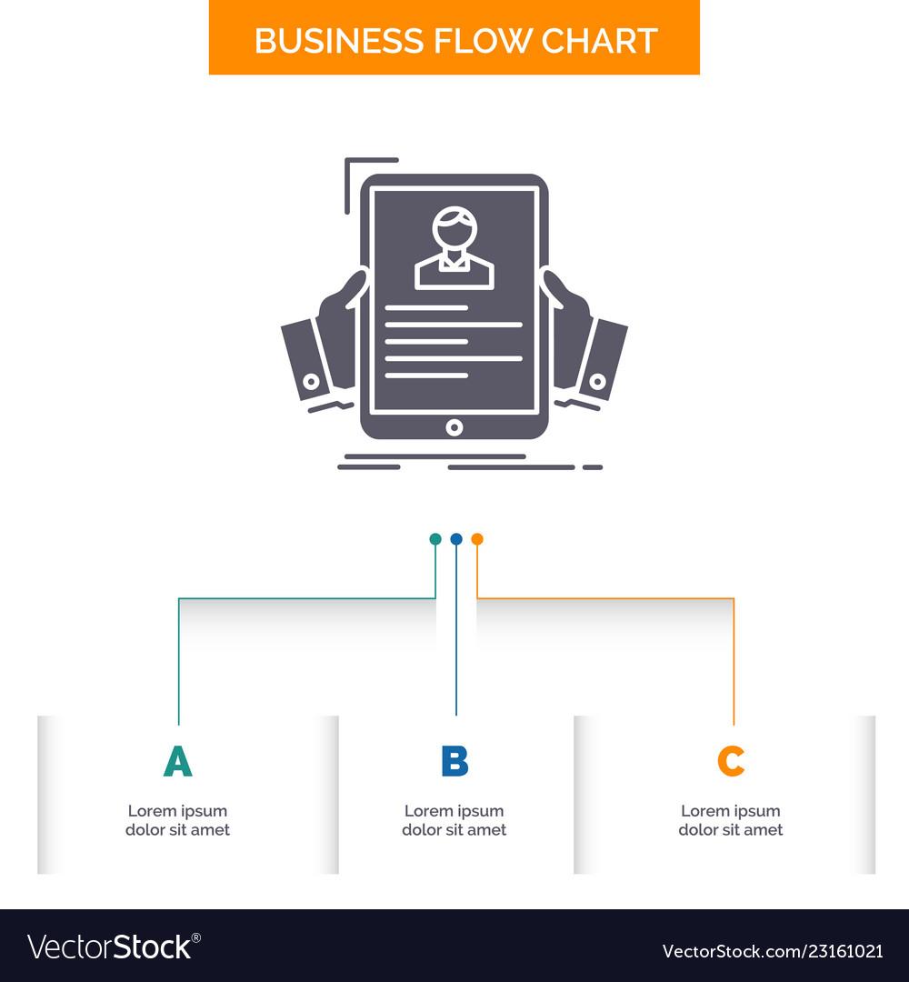 Resume Employee Hiring Hr Profile Business Flow Vector Image