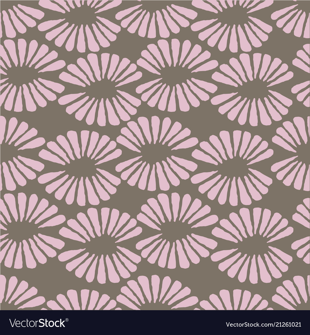 Seamless brown and pink pattern with retro