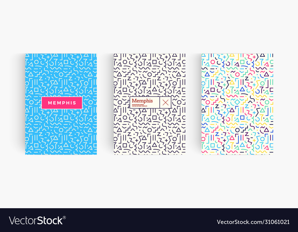 Set geometrical bright posters with abstract