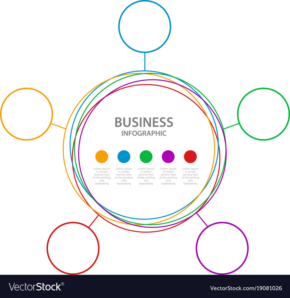 Abstract business infographics timeline wit