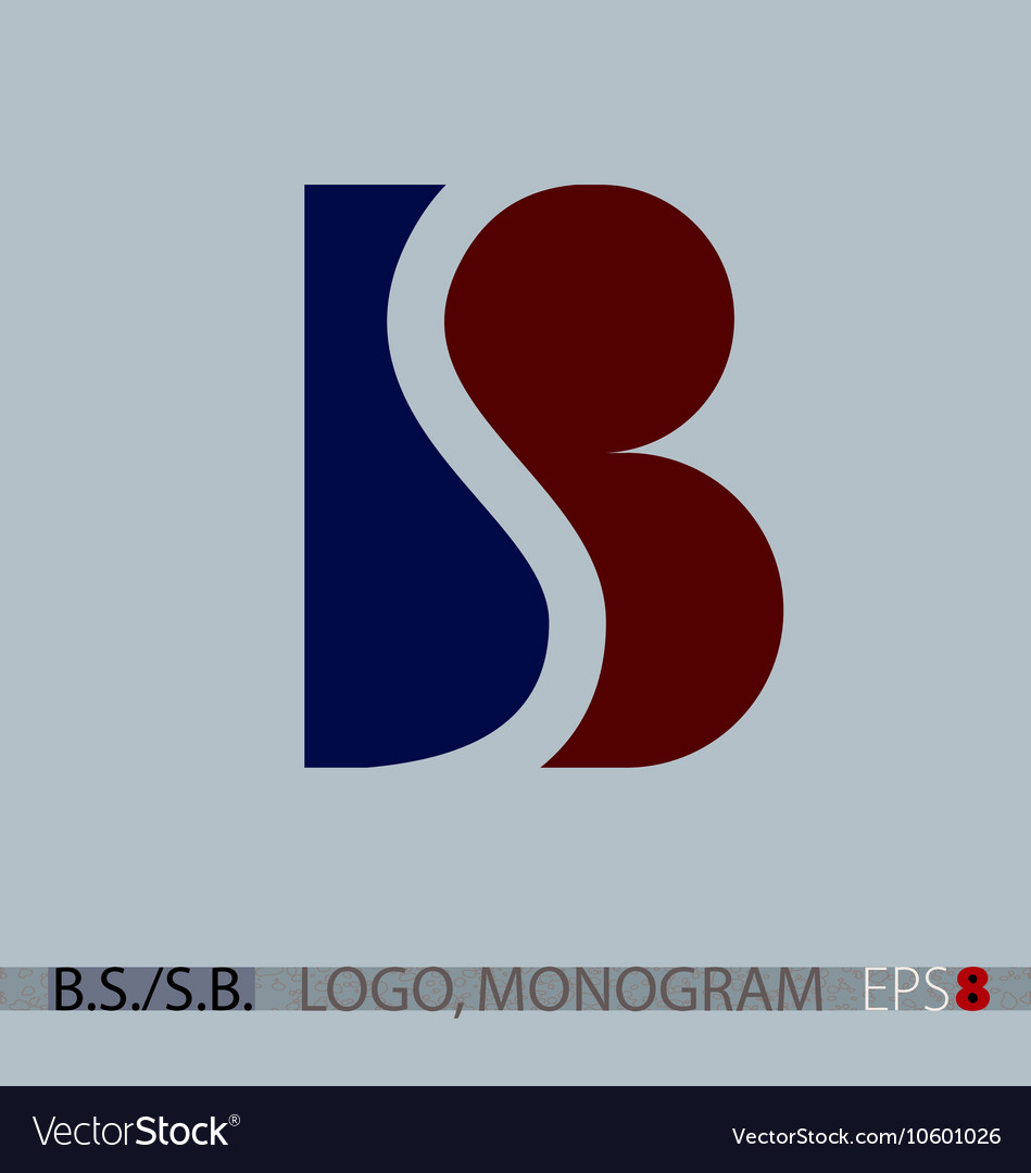 B S or S B monogram logo