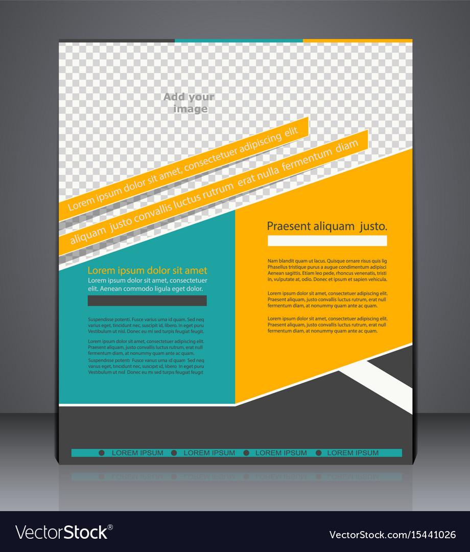 Business brochure flyer design layout cover vector image