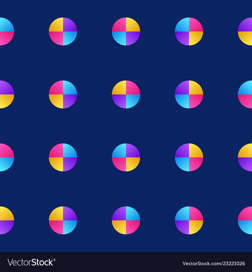 Colorful of circle pattern texture background in