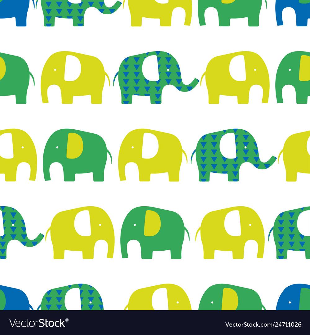 Elephant seamless pattern