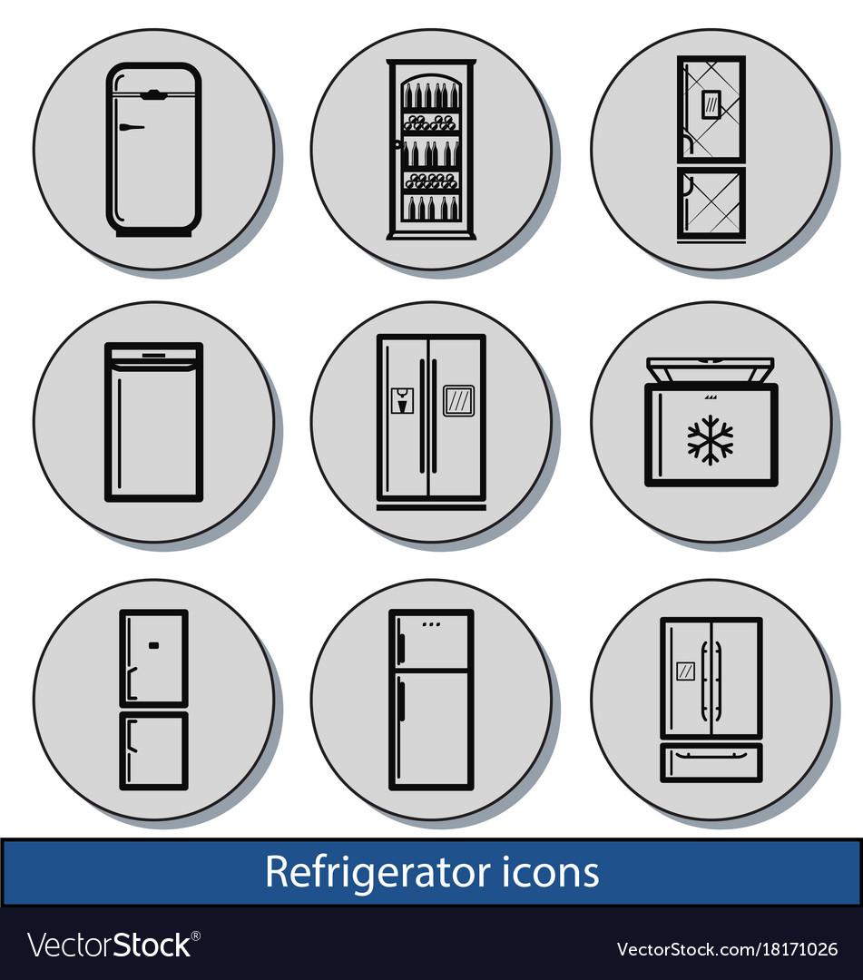 Light refrigerator icons