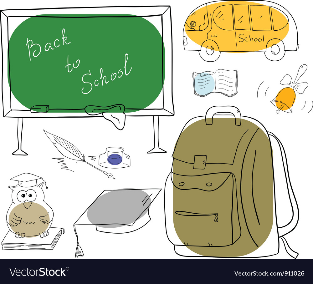 School, Bag, Black, And, White & Cartoon Vector Images (65)